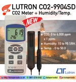 LUTRON CO2-9904SD CO2 Meter Humidity/Temp