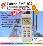 LUTRON EMF-839 3 Axis Radio Frequency Electromagnetic Field Meter