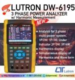 LUTRON DW-6195 3 Phase Power Analyzer w/ Harmonic Measurement