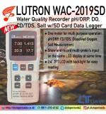 LUTRON WAC-2019SD pH/ORP DO CD/TDS SALT
